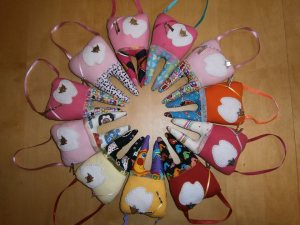 Hand-made Trinity and Tegan Tooth Fairy Pillows
